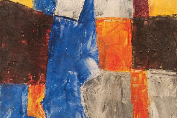Serge Poliakoff Öl auf Leinwand Composition multicolore 1966 35 x 27 cm (002)