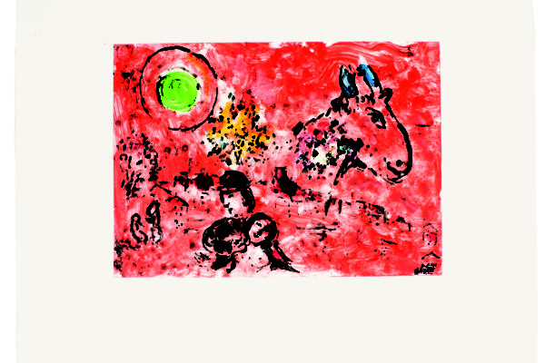 Paysage rouge Marc Chagall
