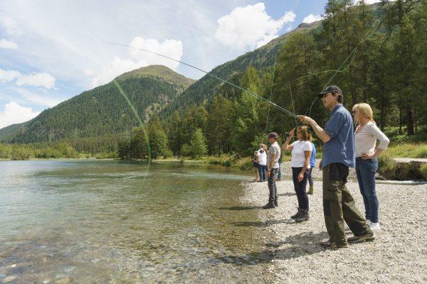 Fly fishing St. Moritz